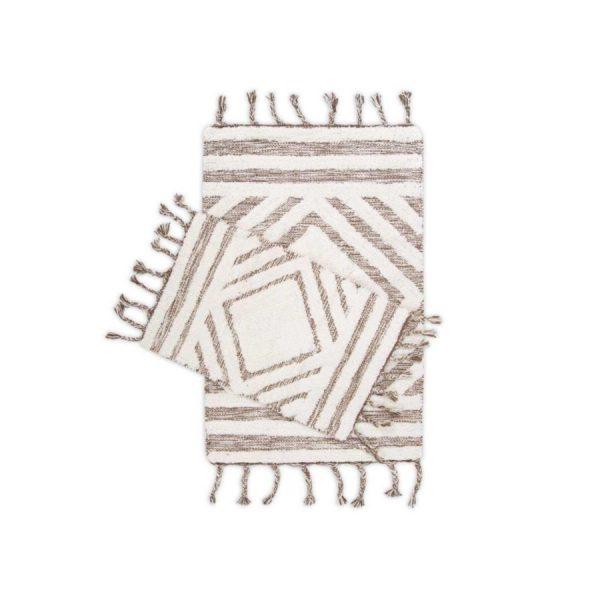 купить Набор ковриков Irya Hoover kahverengi-ekru 60*90 40*60
