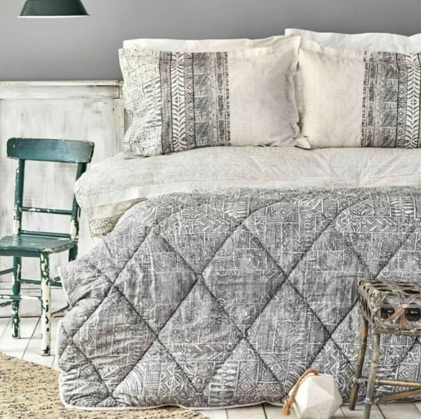 купить Постельное белье с одеялом Karaca Home Marea gri Серый фото