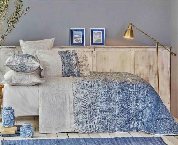 купить Постельное белье с одеялом Karaca Home Marea mavi Голубой фото