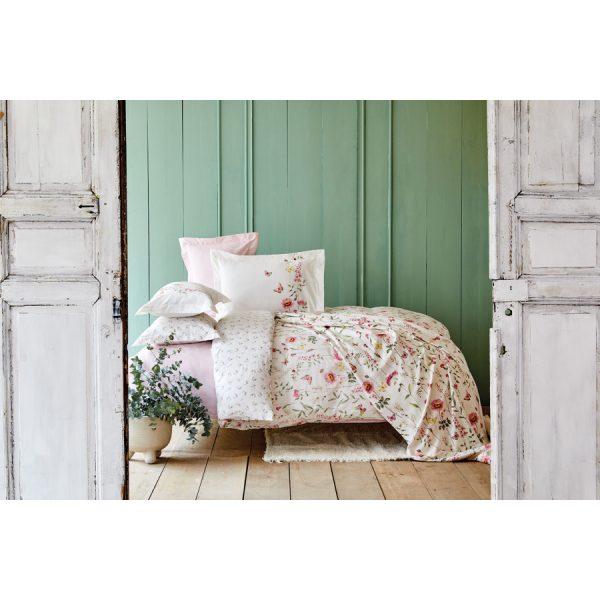 купить Постельное белье с покрывалом пике Karaca Home Lorenzo lila Кремовый фото