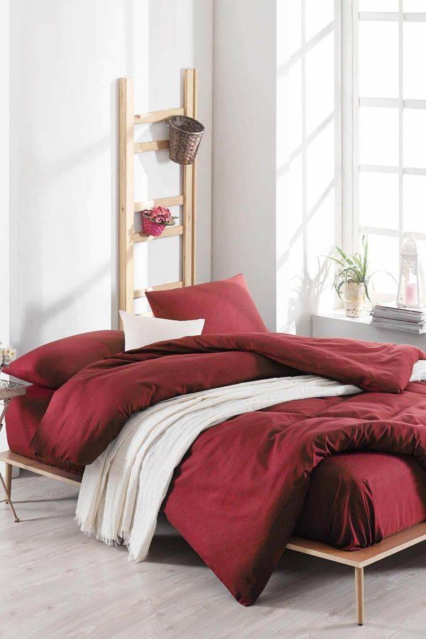 купить Постельное белье Eponj Home Paint D.Boya Bordo Бордовый|Красный фото