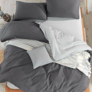 купить Постельное белье Eponj Home Paint Mix Fume-A.Gri Серый фото