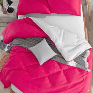купить Постельное белье Eponj Home Paint Mix Fusia-A.Gri Розовый фото