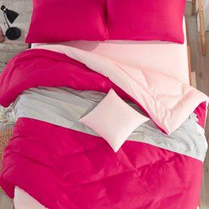 купить Постельное белье Eponj Home Paint Mix Fusia-Somon Розовый фото