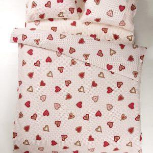 купить Постельное белье Iris Home Ranforce Love is Розовый фото