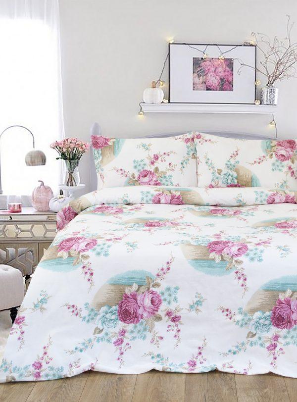 купить Постельное белье Iris Home Ranforce Peony Розовый Розовый фото