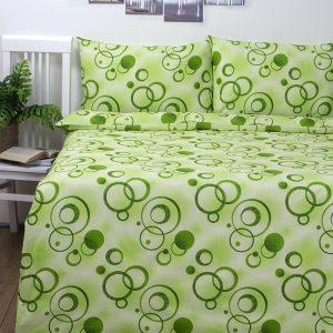 купить Постельное белье Iris Home Ranforce Pery Зеленый Зеленый фото
