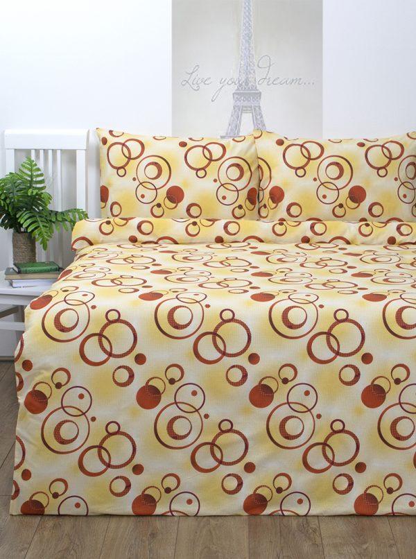 купить Постельное белье Iris Home Ranforce Pery Желтый Желтый фото