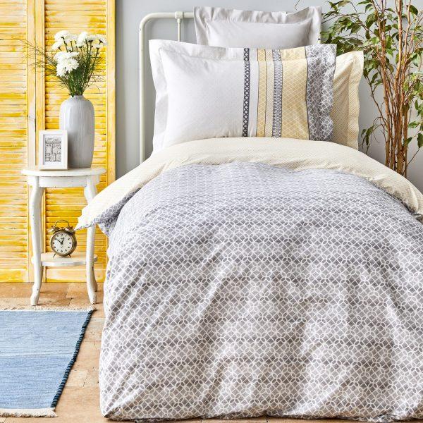 купить Постельное белье Karaca Home Adelio gri Серый фото