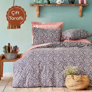 купить Постельное белье Karaca Home Flori somon Розовый|Серый фото