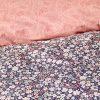купить Постельное белье Karaca Home Flori somon Розовый|Серый фото 110884