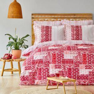 купить Постельное белье Karaca Home ранфорс Pietra kirmizi Красный фото