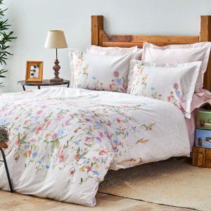 купить Постельное белье Karaca Home ранфорс Seina lila Розовый фото