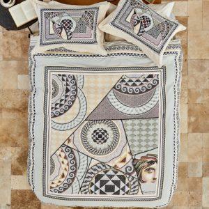 купить Постельное белье Karaca Home ранфорс Zeugma kahve Бежевый фото