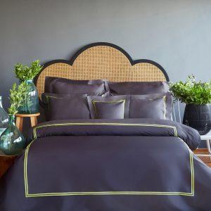 купить Постельное белье MieCasa сатин Milano antrasit-yesil Серый|Черный фото
