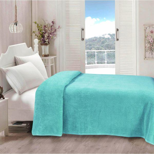 купить Простынь Iris Home махровая Aruba blue