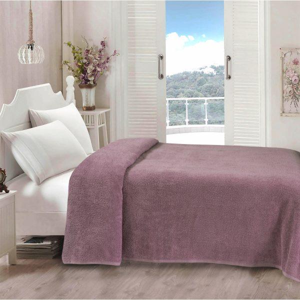 купить Простынь Iris Home махровая Dasky orchid 155*220
