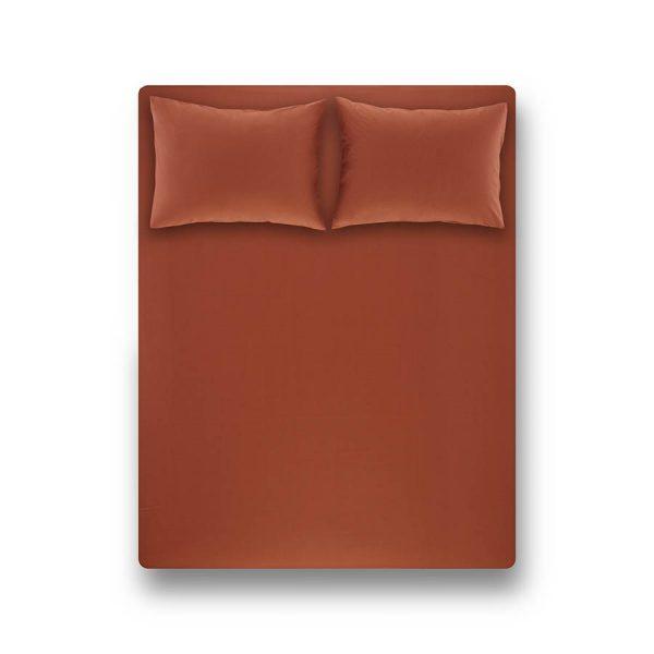 купить Простынь на резинке с наволочками Penelope Laura brick red