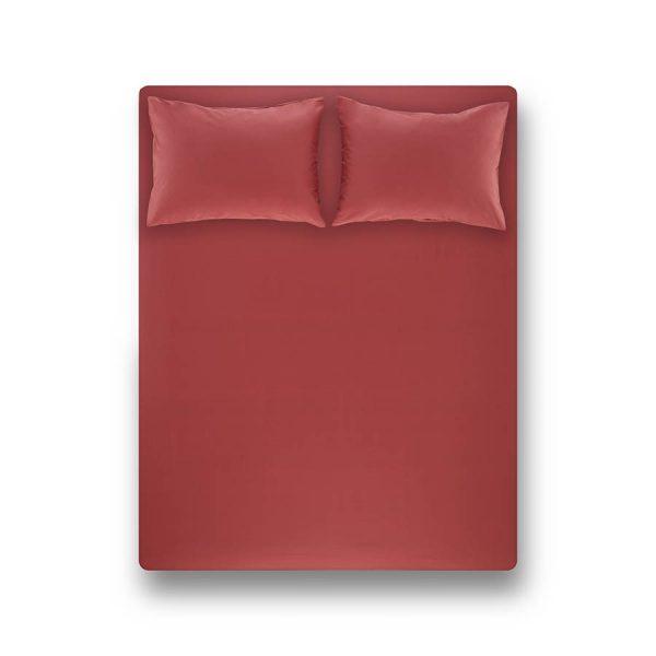 купить Простынь на резинке с наволочками Penelope Laura coral