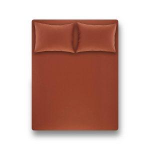купить Простынь на резинке с наволочкой Penelope Laura brick red