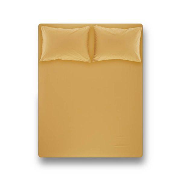 купить Простынь на резинке с наволочкой Penelope Laura mustard